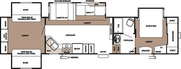 Woodalls open roads forum fifth wheels bunkhouse 5th for Small bunkhouse floor plans