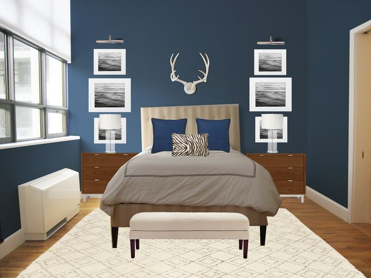 master bedroom decorating ideas 2014 Tim likes this dark blue wall ...