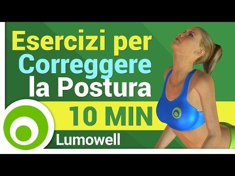 Posturali a Casa: Esercizi per Correggere la Postura - YouTube