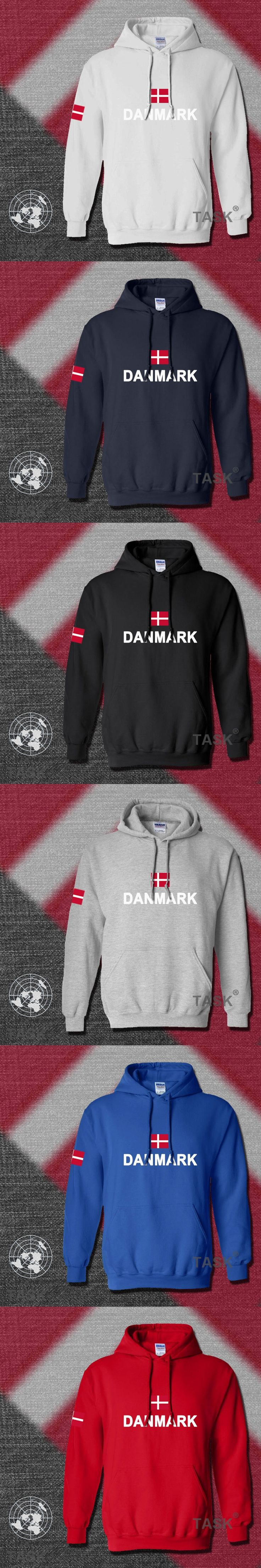 Denmark hoodies men sweatshirt polo sweat new hip hop streetwear footballes jerseyes tracksuit nation Danish flag DK Danmark