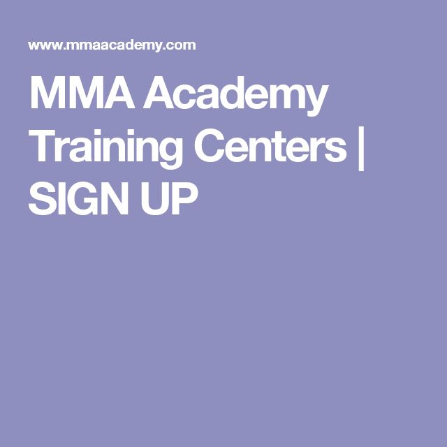 MMA Academy Training Centers | SIGN UP