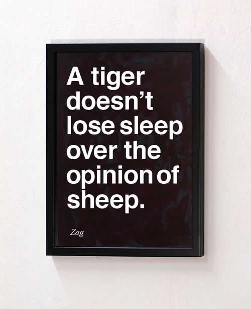 Be the tiger.