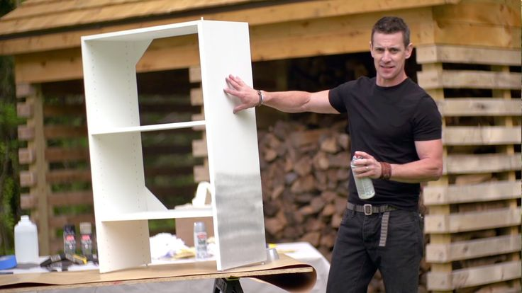 Watch as Mark Clement from MyFixItUpLife shows you how easy it is to spray paint melamine shelves using Krylon Dual Superbond Paint + Primer. For more inform...
