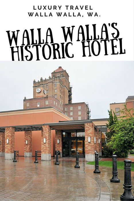 If you want to stay in Walla Walla Wine Country in style I suggest the Marcus Whitman Hotel. It is close to wine bars and restaurants.