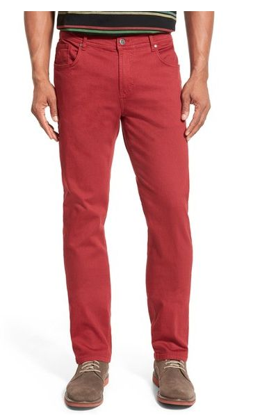 Bugatchi Straight Leg Stretch Cotton Pants