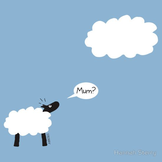Sheep are really clouds with legs! Very silly cartoon by Hannah Sterry. T-shirts available (just click the picture).