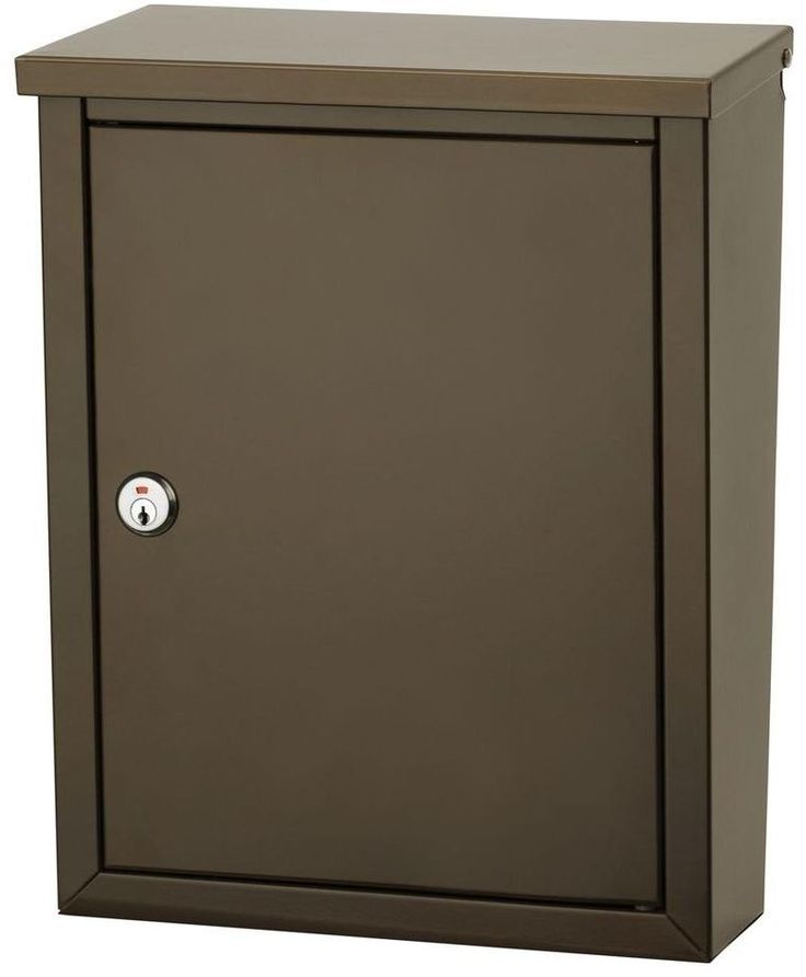Chelsea Wall Mount Lockable Mailbox Wide Deep Storage Corrosion Resistant  Bronze