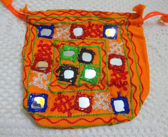 Joyería india bordados étnicos bolsa bolsa de tela saquito