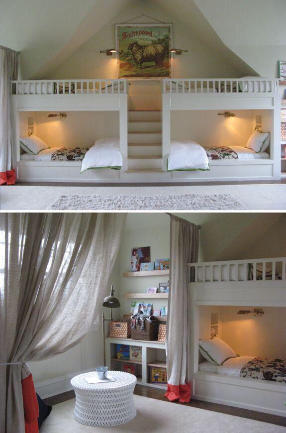 love these bunk beds!!  rooms  Pinterest  Ideas, Beds  ~ 083908_Dope Dorm Room Ideas