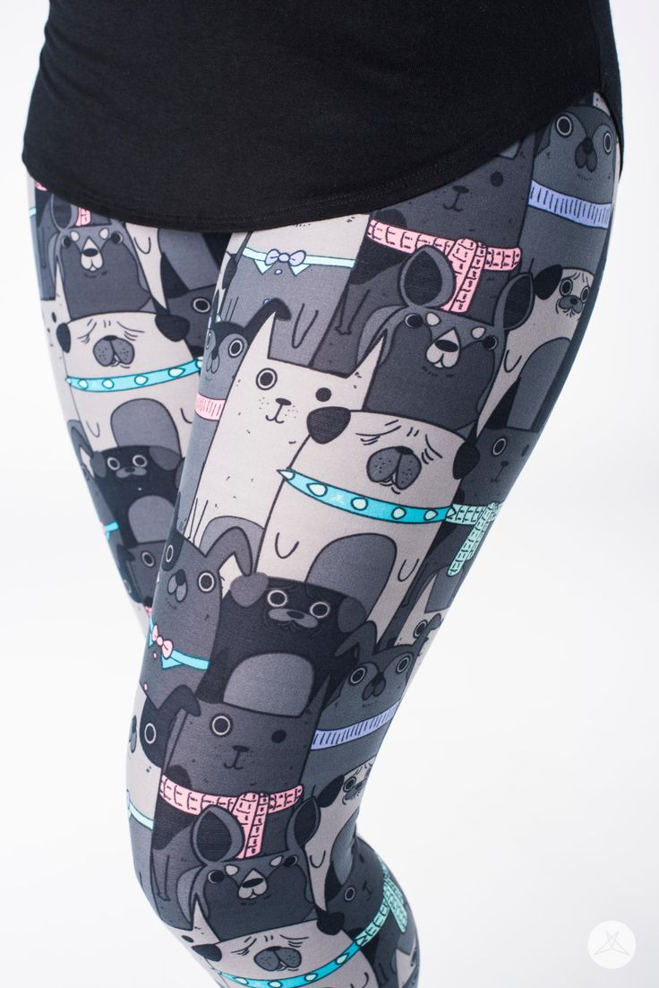 Ruff House | SweetLegs.ca SweetLegs Ruff House is a super adorable black and gray scale print with pops of pink, mint, blue (and more); the best part? The menagerie of pets that are all nestled together – so SWEET!