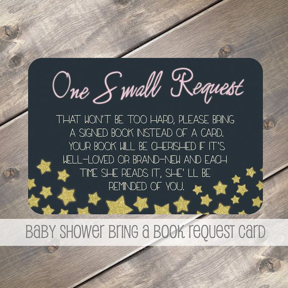 twinkle star theme bring a book instead of a card baby shower