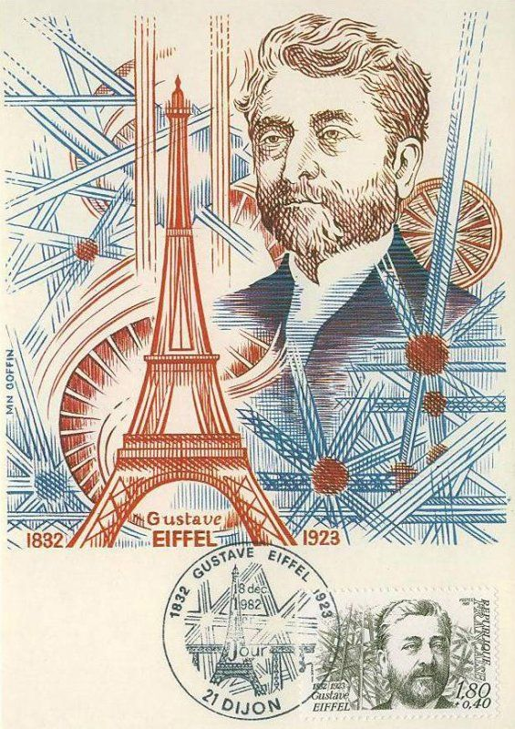 Timbre : 1982 Gustave EIFFEL 1832-1923 | WikiTimbres