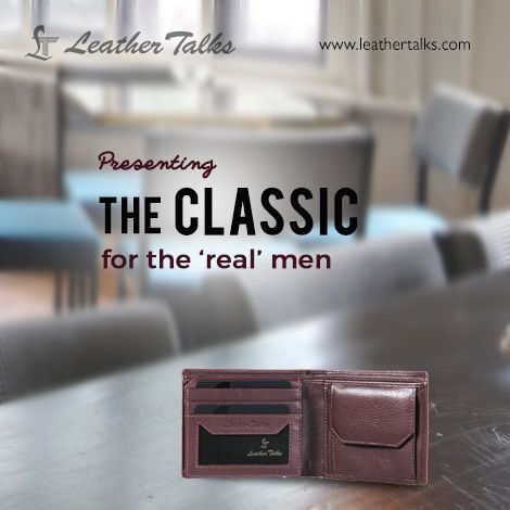 This best quality durable 'CLASSIC' leather wallet from Leather Talks. A classy choice for sophisticated men. #blackwallet #brownwallet   http://leathertalks.com/product/classic/
