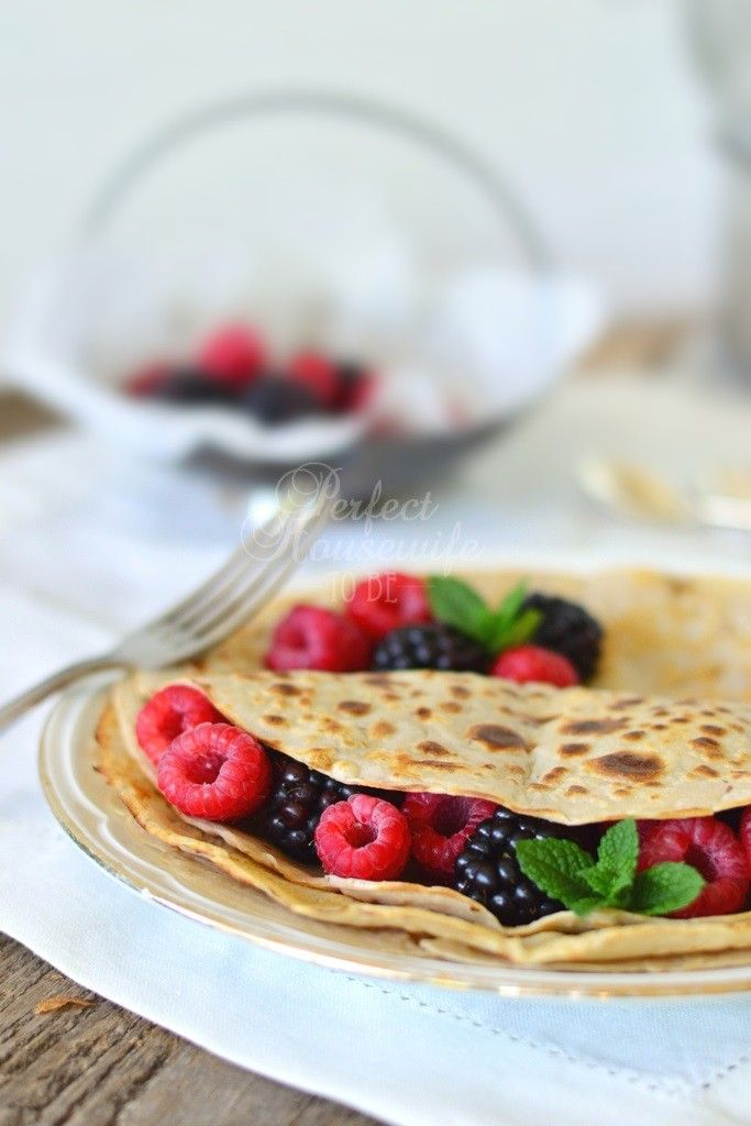 #Recept voor boekweitpannenkoeken (glutenvrij, suikervrij & lactosevrij). Lekker als gezond ontbijt, lunch, diner of zelfs als dessert (met een dot room). Klik voor serveertips!   Op de DIY- en foodblog Perfect Housewife - to be
