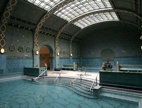 Art deco Gellert Baths, Budapest