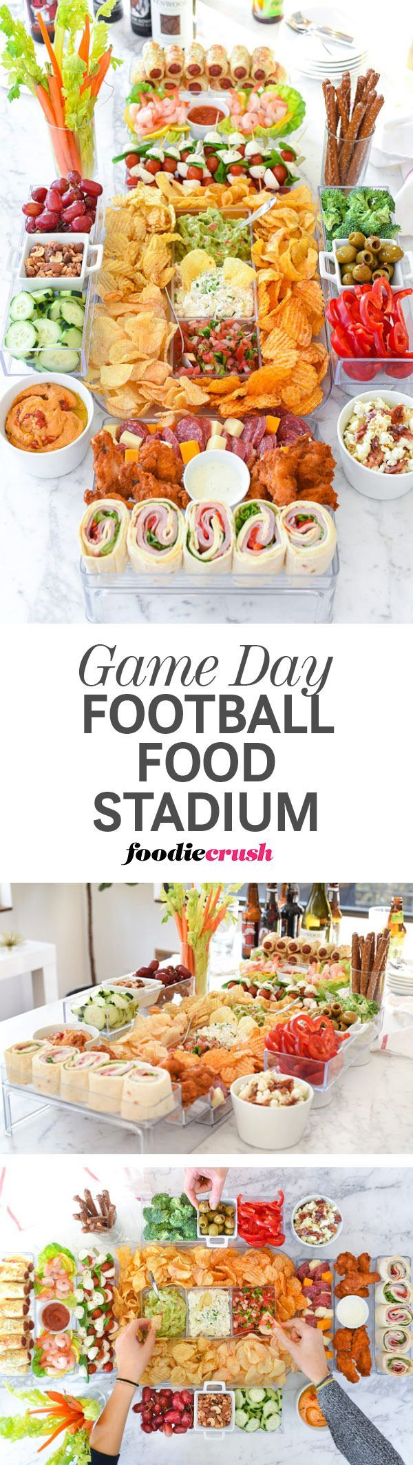 How to Build a Game Day Football Food Stadium and 20 Recipe Ideas to Fill It With | http://foodiecrush.com