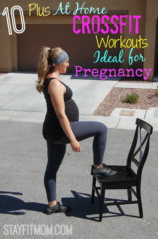 Ideal CrossFit Workouts for pregnancy, including modification options from StayFitMom.com