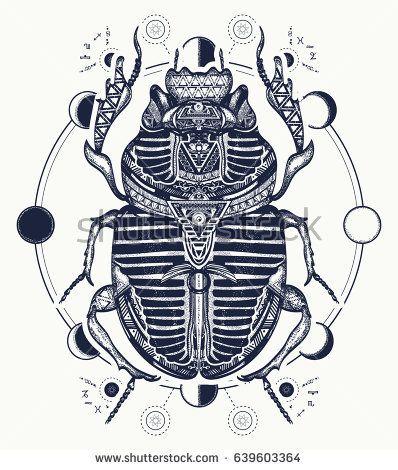 Egyptian scarab symbol of pharaoh, gods Ra, sun. Scarab, tattoo, ancient Egypt, mythology t-shirt design, tattoos of ancient Egypt