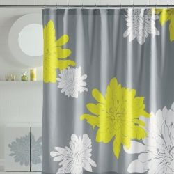 Grey and yellow shower curtains will coordinate nicely with French provenance, shabby chic and even country bathroom décor. They can come in...