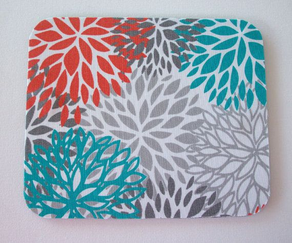 mousepad / Mouse Pad / Mat round or rectangle   Blooms  by Laa766, $9.25   chic / cute / preppy / teacher / student / laptop accessory / desk accessory / office decor / graduation / dorm / gift