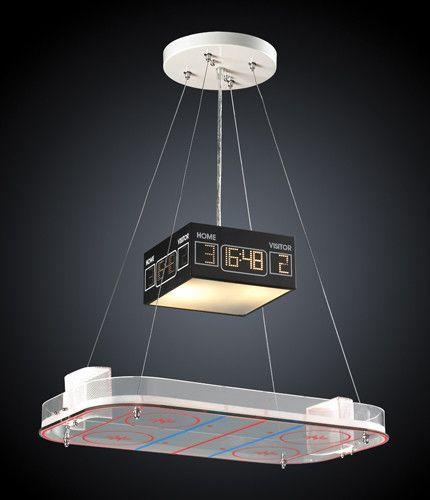 ELK Lighting 5138-2 Two Light Pendant In A Hockey Motif
