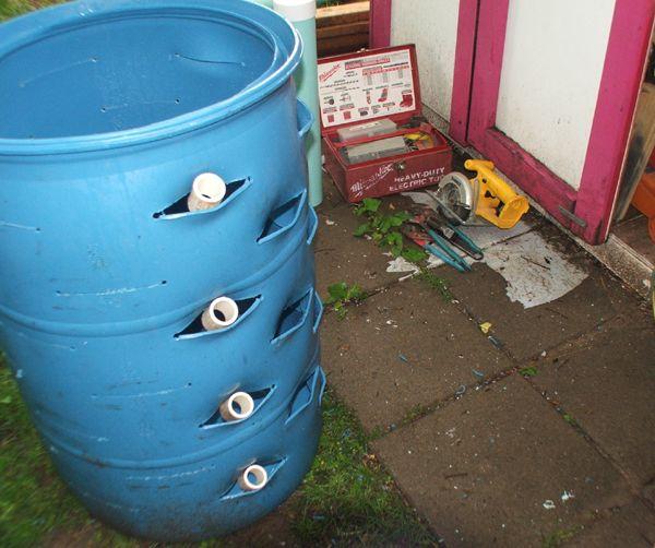 DIY Barrel Planter