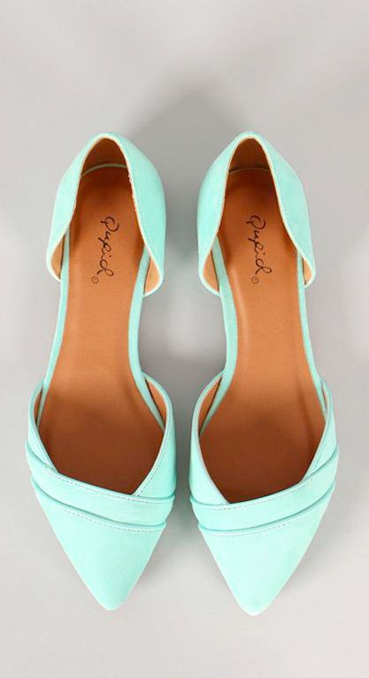 Mint ballet flats - love the cut