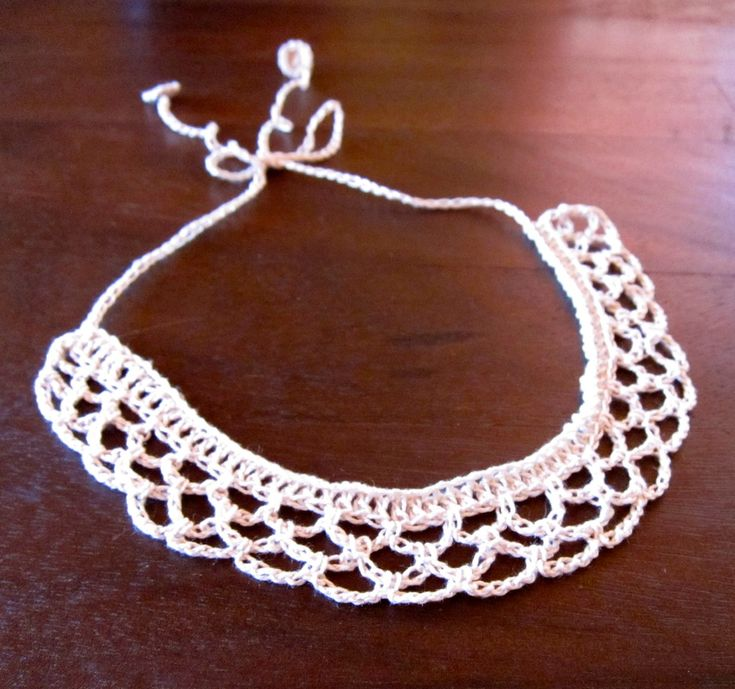278 best CROCHET COLLARS images on Pinterest | Crochet necklace ...