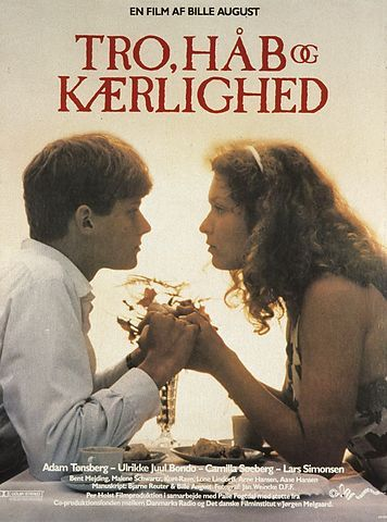 Tro, håb og kærlighed (Bille August, DK, 1984) A follow-up on Zappa, 1983, but working fully as a stand-alone, Bille August's Twist & Shout picks up the character of Bjørn when he has turned 17 and finds himself pushed into an engagement to rich kid Kirsten. http://www.dfi.dk/faktaomfilm/film/da/347.aspx?id=347