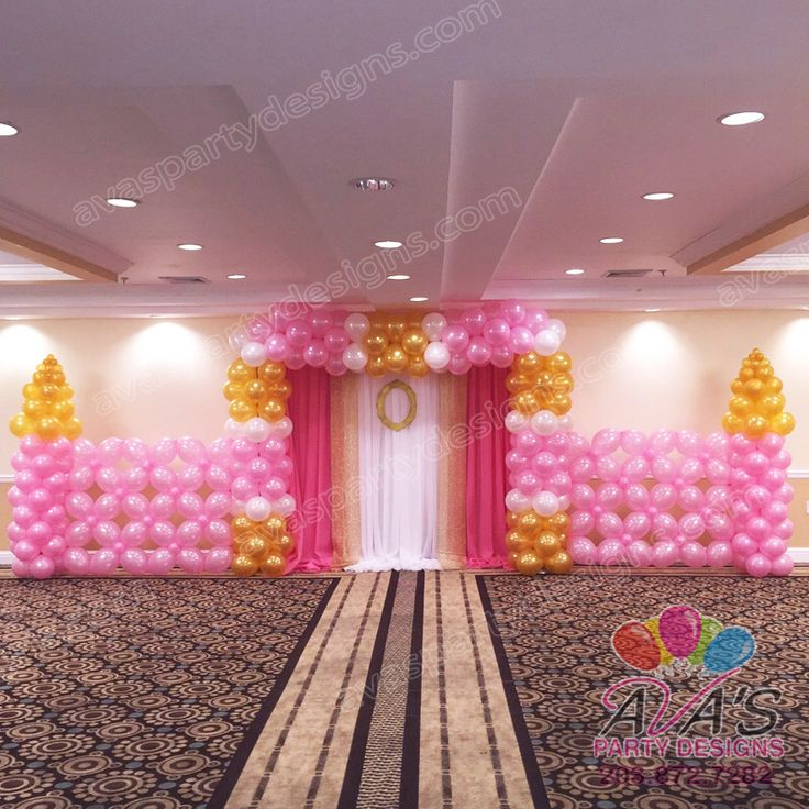 1000 images about castillos de globos on pinterest for Balloon backdrop decoration