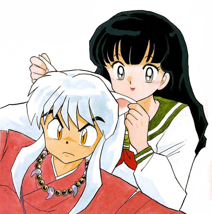 InuYasha and Kagome - Official art. By: Rumiko Takahashi