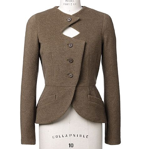 Lovely tailored jacket with simple peplum waist