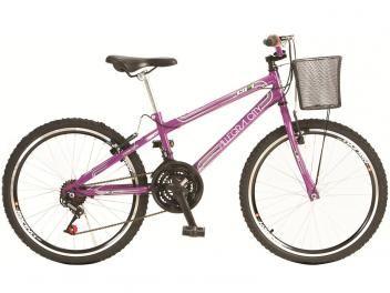 Bicicleta-Queima de Estoque!-Bicicleta Colli Bike Juvenil Allegra City Aro 24 - 21 Machas Quadro em Aço Freio V-brake-A bicicleta da Colli, Allegra City é ideal para meninas de 09 a 12 anos. Feita em aço carbono, possui 21 marchas e aro 24, com suporte de guidão em alumínio e pedal de nylon, com refletor. Contém cubo dianteiro e traseiro acoplados de ferro e corrente fina, o que mantém toda a segurança e durabilidade, suportando até 60 quilos.