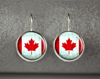 Maple Leaf Earrings Canada Day Earrings by BirchStreetStudio15