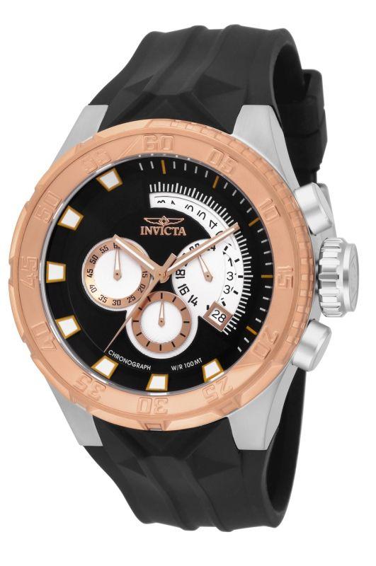 Invicta Force 16924 un reloj deportivo con bisel de color oro rosa y acero inoxidable.