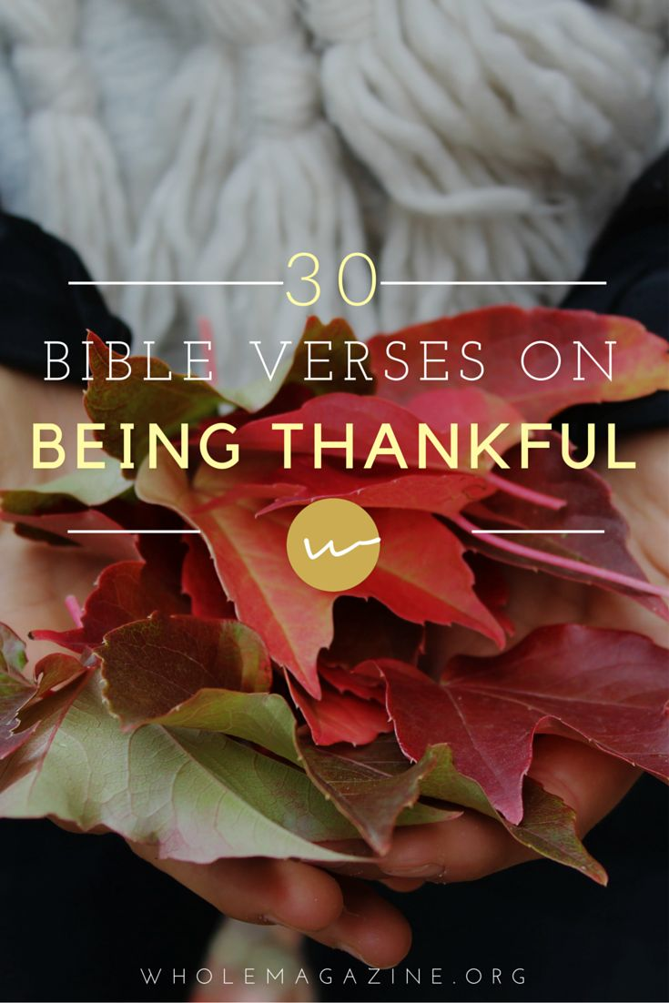 30 Bible Verses on Being Thankful // Whole Magazine // Thanksgiving