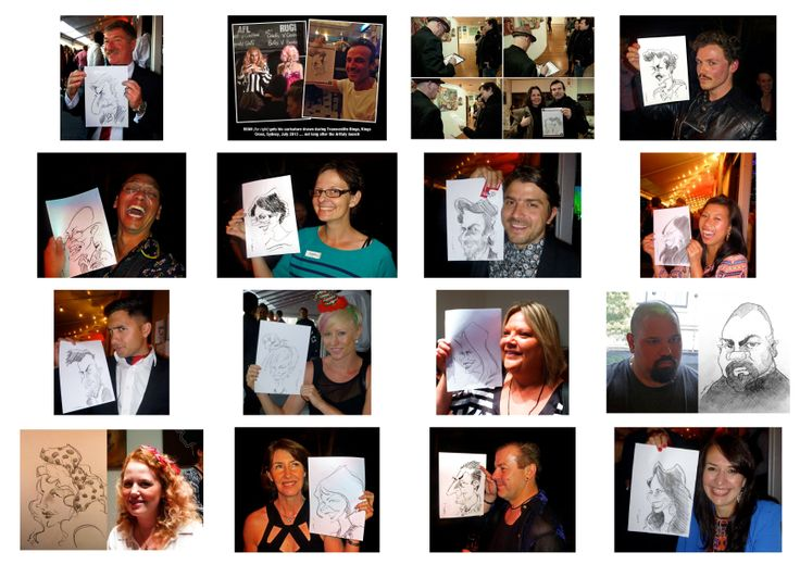 A selection of Caricatures from across a wide range of functions & parties.