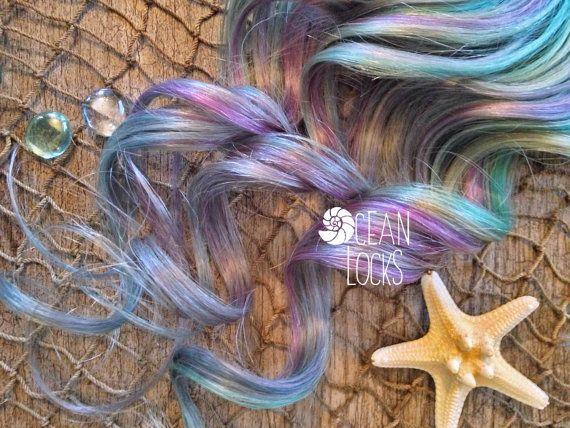 Underlights, Peekaboo Highlights, Pastel Hair, Ombre Hair Extensions, Lavender Hair, Teal Hair, Silver Hair, Clip In Hair Extensions