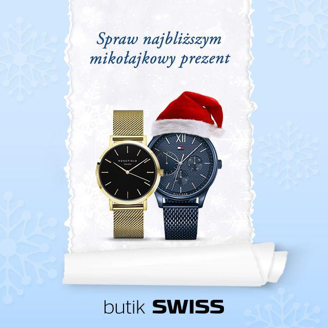 zukasz Mikołajkowego prezentu? Przyjdź do butiku SWISS, pomożemy Ci wybrać wyjątkowy zegarek, dla Ciebie lub bliskiej osoby!