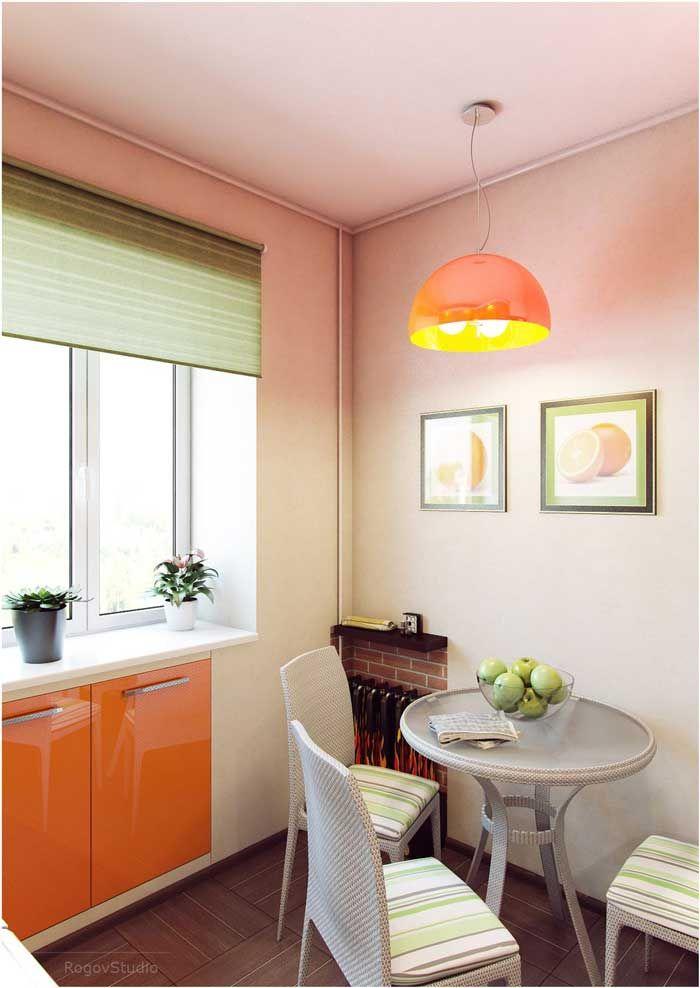 Малогабаритные кухни, дизайн в хрущевке. Фото 6