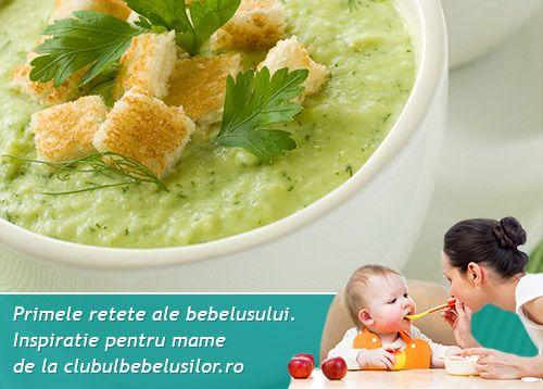 Piure dulce cu dovlecel pentru bebelusi de la 8 luni