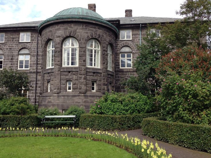 Althingi  (the government building) in Reykjavik - and its beautiful little park