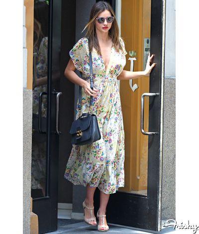 Miranda Kerr in an great girly floral for any hot summer day #thefrisky .com: Miranda Kerr, Fashion Details, Fashion Icons, Mirandakerr Floral, Kerr Photos, Style Miranda, Kerr Style, Floral Dresses, Miranda