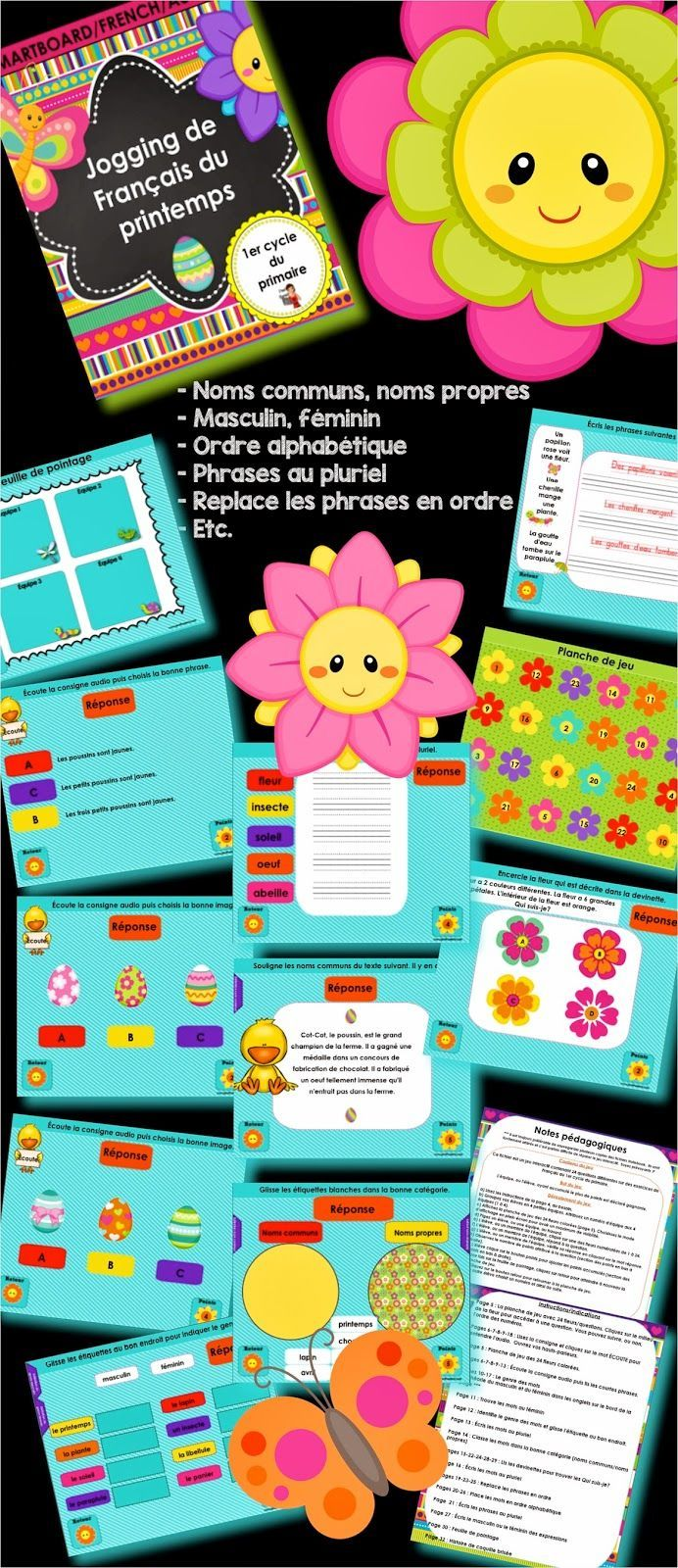 Activités TNI pour le primaire ************************************* French SmartBoard activities for morning routine, interactive Notebook file for the students. *********************************** #EdTech #SmartBoard #TBI #Notebook