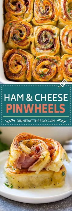 Ham and Cheese Pinwheels Recipe | Ham and Cheese Roll Ups | Ham and Cheese Rolls | Ham and Cheese Bread Rolls