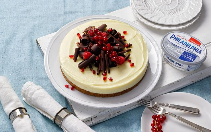 TV chef Lorraine Pascale is famous for her delicious recipes. Here she shares a recipe for a delicious Philadelphia white chocolate cheesecake