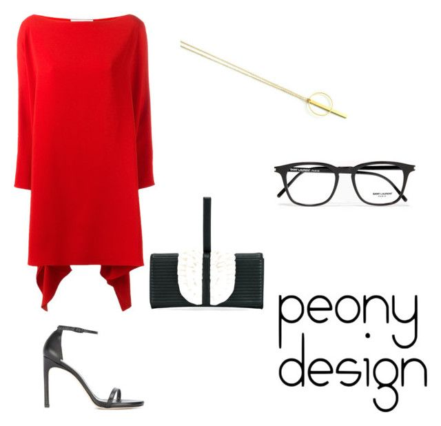 Peony Design by teri-peony on Polyvore featuring Gianluca Capannolo, Stuart Weitzman, Boutique Moschino and Yves Saint Laurent