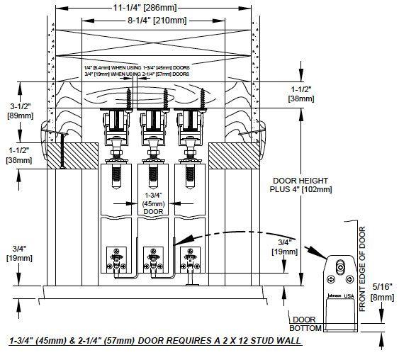 Johnson hardware multi pass sliding door hardware for Multi panel sliding glass doors