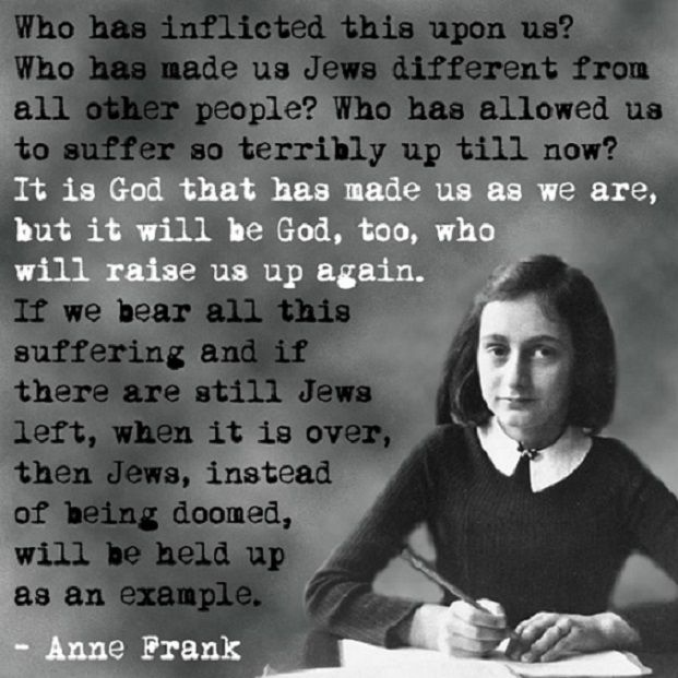13 thought-provoking quotes from Anne Frank.  Wisdom knows not age.
