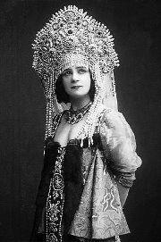 Прима - балерина Екатерина Гельцер в русском костюме , Москва 1915 г